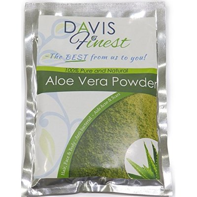 Davis Finest Aloe Vera Powder for Hair Face Skin, Cooling, Soothing, Hydrating, Natural Moisturising Face Mask 100g