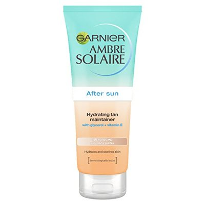 Garnier Ambre Solaire After Sun Hydrating Tan Maintainer with Self Tan, Soothing Hydrating and Tan Enhancing Aftersun Lotion with Self Tan 200 ml