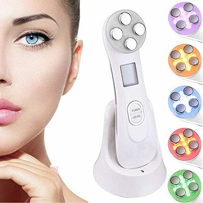 Ultrasonic beauty device,High Frequency Facial Machine&5in1 Ultrasonic Red LED Light theragy And 6 Modes Face Massager For Skin Care Facial Cleaner Anti-aging Anti-wrinkle