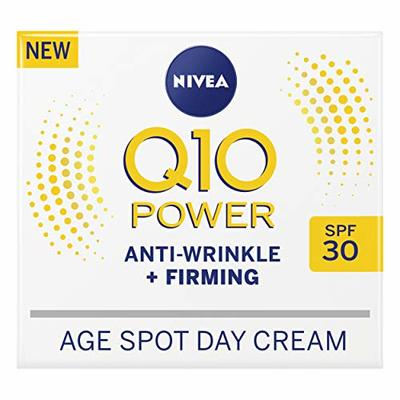NIVEA Q10 Power Anti-Wrinkle + Firming Age Spot Day Cream SPF30 (50 ml), Anti-Ageing Face Cream with Creatine & Q10, Reduces the Appearance of Wrinkles