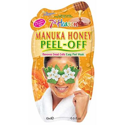 7th Heaven Manuka Honey Easy Peel-Off Mask with Rejuvenating Jasmine and Aloe Vera to Remove Dead Skin Cells – Ideal for Oily, Combo and Problem Skin