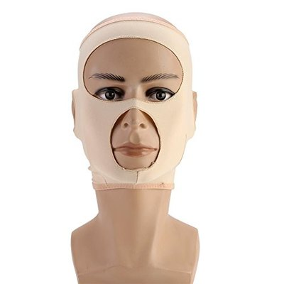 Facial Slimming Belts, Full-cover Face Lift Mask Double Chin Remove Weight Loss V-line Tightening Bandages Care(M)