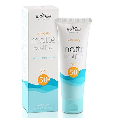 SUNSCREEN FOR THE FACE SPF 50 – Moisturizing and soothing sun care – Enriched with Vitamin E and C – Matte finish / 80 ml.