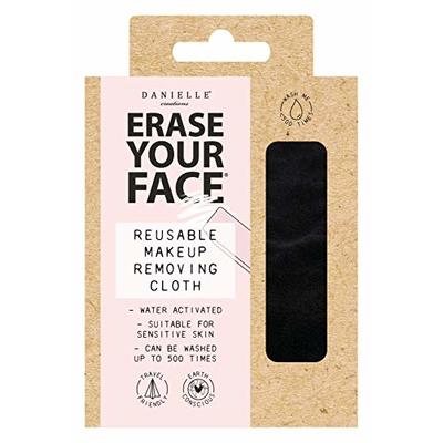 Danielle Creations Erase Your Face Eco Friendly Reusable Make Up Remover Cloth in Black