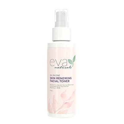 Eva Naturals All-In-One Skin Renewing Facial Toner (4 ounce) – Face Moisturizer and Natural Skin Cleanser Brightens, Restores and Helps Fight Acne – with Vitamin C, Lavender and Bee Propolis