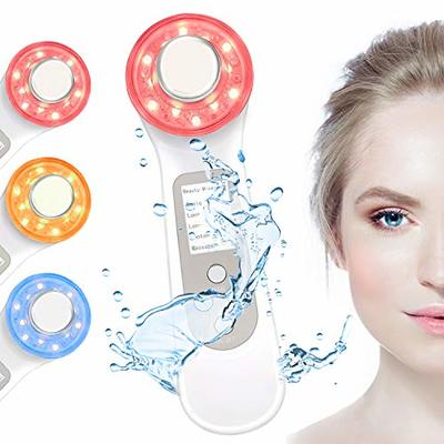 Endim Ultrasonic beauty device – 4- in-1 Facial Skincare Treatments – LED Light Machine+Ion Therapy+Wave Stimulation+Massage-Acne Treatment-Anti Aging-Lift & Red-Yellow-Green-Tighten Skin-Wrinkles