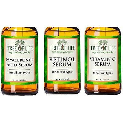 ToLB Anti Aging Serum 3 Combo Pack Vitamin C/Retinol/Hyaluronic Acid Serum Set