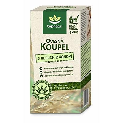 Colloidal Oatmeal Bath with Hemp Oil for Itchy, Irritated Skin | Dry, Sensitive and Atopic Skin Relief | Soothing Treatment for Eczema, Chicken Pox, Dermatitis