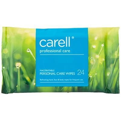 Carell Professional Care – Maceratable Personal Care Wipes – Gentle Face and Body Wipes, Alcohol Free – Pack of 24 Wipes
