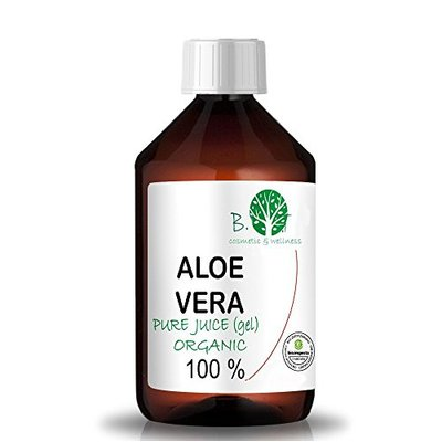 Organic Aloe Vera Juice 99.99% Cold-Pressed, Genuine, Liquid, Without thickeners (500 ml I 17.03 Fl. oz)