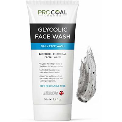 Glycolic Face Wash, Exfoliating Face Wash for Women and Men 70ml by Procoal – For A Clean and Clear Complexion, Cruelty-Free, Not Suitable for Sensitive Skin, Made in UK