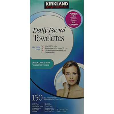 Kirkland Signature Daily Facial Cleansing Towelettes 150 Pack
