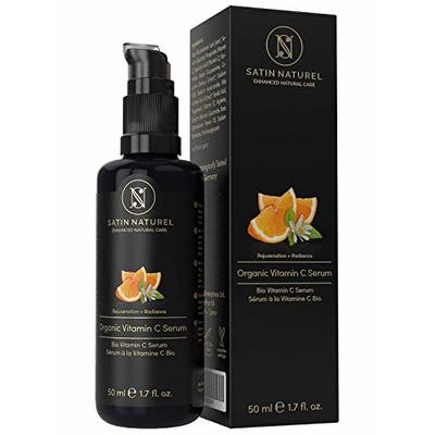 THE WINNER 2020* ORGANIC Vitamin C Serum with Hyaluronic Acid – 50ml High-Dosed – IMPROVED 30% Vitamin C Double Complex + Vitamin E & Aloe Vera – Vegan, Anti-Ageing Face & Skin Care Made in Germany
