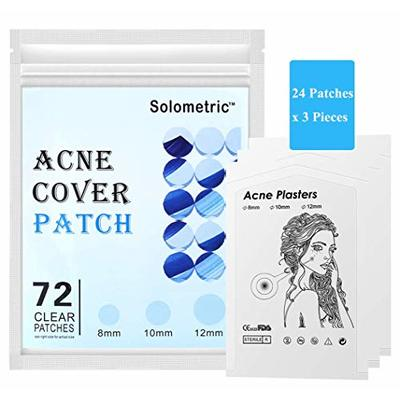 72 dots Acne Patch, Hydrocolloid Absorbing Pimple Patch, Spots Removal, Skin Tag Removal Patches, Invisible Dressing Bandages, Natural Ingredients for All Skin Types