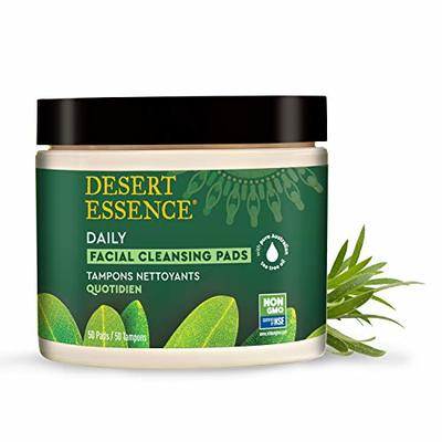 Desert Essence Tea Tree Oil Facial Cleansing Pads – 50 Count