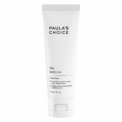 Paula's Choice The Unscrub – Exfoliating & Cleansing Facial Scrub with Jojoba Beads – Gentle Cleanser for Soft & Smooth Skin – All Skin Types – 118 ml
