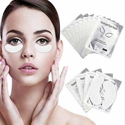 Under Eye Gel Pads 100 Pairs Under Eye Patches Isolation Eyelash Extension Pads Lint Free Beauty Mask Tool Makeup for Pro Salon and Individual