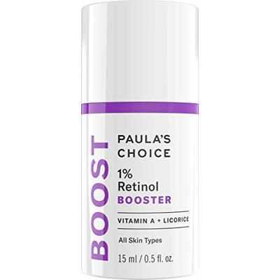 Paula's Choice 1% Retinol Booster Serum – Anti Aging Treatment Reduces Wrinkles and Pores for Face & Eyes – for Soft, Smooth & Radiant Skin – with Antioxidants & Peptides – All Skin Types – 15 ml