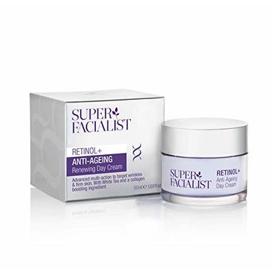 Super Facialist Retinol Cream – Anti Ageing – Face Cream Women – Morning Day Cream Face Moisturiser & Wrinkle Cream with Shea Butter Collagen Stimulating White Tea & Hyaluronic Acid 50ml