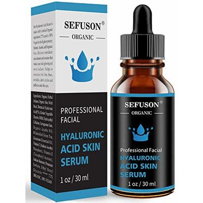 Hyaluronic Acid Serum, Best Pure Hyaluronic Acid Moisturiser for Face, Anti Ageing & Anti Wrinkle Moisturiser Hyaluronic Acid Serum, Fine Lines & Sensitive Skin?Improve Age Spots-1floz(30ml).