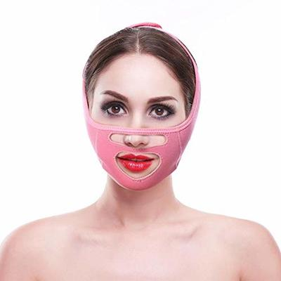 Facial Lifting Shaping Belts,V Line Mask Neck Double Chin Cheek Smooth Breathable Double Chin Reduce Bandage