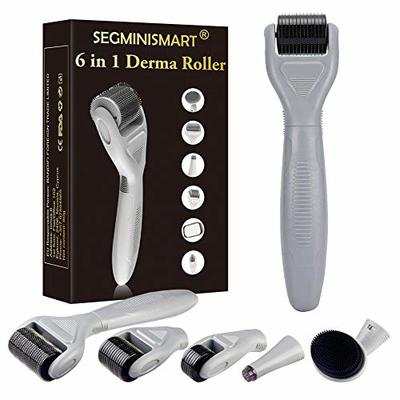 Derma Roller, Derma Roller Kit, 6 in 1 Microneedle Derma Roller for Skin Care, Anti Ageing Wrinkles Acne Spot Cellulite to Use on Face, Eyes, Body