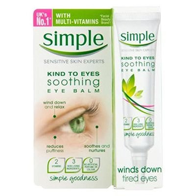 Simple Kind To Eyes Soothing Eye Balm 15Ml – Pack of 2