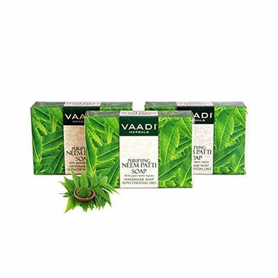 Vaadi Herbals Value Pack Of 3 Neem Patti Soap Bar- Contains Pure Neem Leaves 75 Gms X 3
