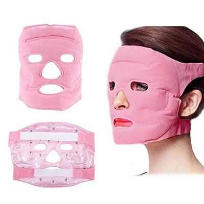 Tourmaline Face Mask, Face Care Masks Beauty Tool Tourmaline Magnetic Cold/Hot Compress Massage Anti-Wrinkle For Facial Beauty