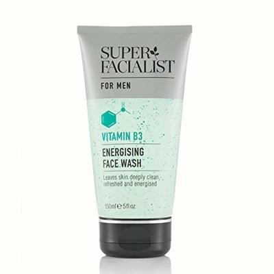 Super Facialist Mens Face Wash Energising with Vitamins B3 & E, Cleanses Daily Impurities 150ml