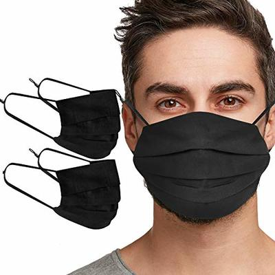 Tanness 2 PACK Reusable 100% Cotton Face Cover Mask Washable Face Mouth Cover – BLACK