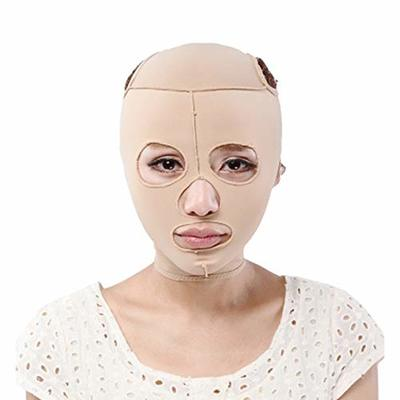 Gobesty Face Slimming Cheek Mask, Face Lifting Slimming V Face Mask Full Coverage Bandage Reduce Facial Double Chin Care Weight Loss Beauty Belt