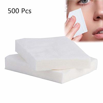500pcs Disposable Lint Free Makeup Cotton Pads Cosmetic Remover Facial Soft Skin Care Cleaning Wipe