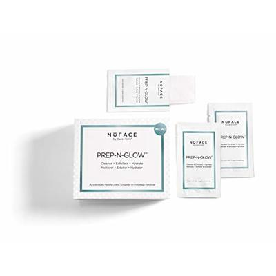 NuFACE Prep-N-Glow Cleansing Cloths Removes Dirt Oil and Make-up – 20 Pack
