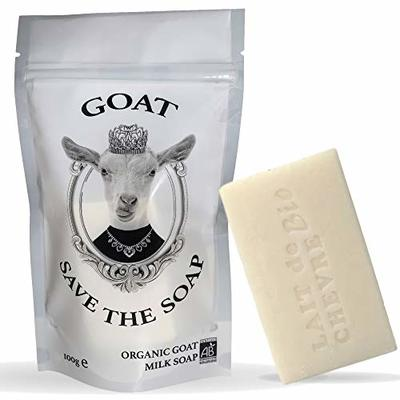 Organic goat milk soap, facial wash, face scrub, acne treatment, face care and spot treatment, face cleanser and blackhead removal | Goat Save the soap