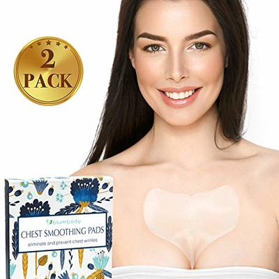 Blumbody Chest Wrinkle Pads – Decollete Anti Cleavage Wrinkles Silicone Pad Set of 2 Reusable Patches for Skin Lines Prevention – Overnight Wrinkle Remover Treatment while Sleeping