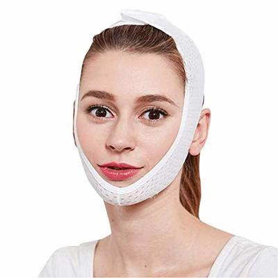 Juanya Breathable Face Lifting Slimmer Band, Anti Wrinkle Lift V Face Line, Double Chin Reduce Tightening Patch Mask