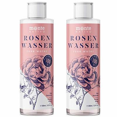 100% Pure Rose Water MonteNativo 2*200ml – 100% Natural and Pure, Facial Skin Toner, Natural Rose Hydrolat, Tripple Purified, Floral Rose Water …