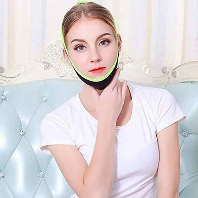 Anti Wrinkle Face Slimming Cheek Mask V Line Facial Mask Lift Up Strap Chin Face Line Belt Strap Band Sleep Thin Face Black Melon Face Lifting Mask Firming Thin Double Chin Bandage Mask