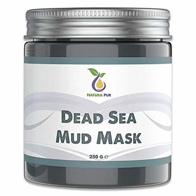 NATURA PUR Dead Sea Mud Mask 250g, vegan – Facial mask against pimples and acne – Anti-aging care for dry, oily and impure skin – Clay Face Mask