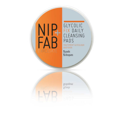 NIP+FAB Glycolic Fix Daily Cleansing Pads Deluxe 5pc – Exfoliating Brightening