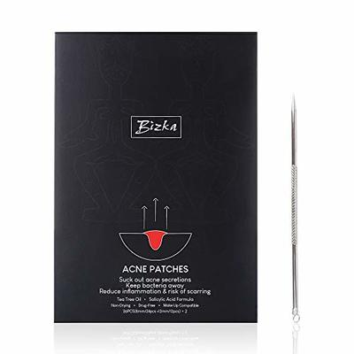 Acne Treatments Bizka Acne Hydrocolloid Patches Pimple Patches Day & Night Patches (72 count) Plus Acne Remover Tool (1 pcs)