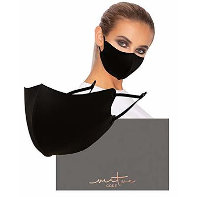 DNA Mask in Black by VIRTUE CODE Fabric Face Masks 1 Piece Anti Dust