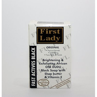First Lady Skin Brightening & Exfoliating African OSE DUDU OSUN Black Soap 200g – with Shea Butter & Vitamin E