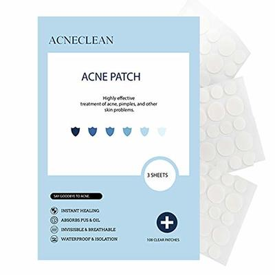 Acne Patches Pimple Patches Acne Treatments Patches Hydrocolloid Spot Patches Invisible Spot Sticker Cruelty Free (108 Patches)