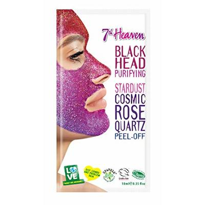 StarDust Cosmic Rose Quartz Peel-Off Pink Guava Face Mask By 7th Heaven | Blackhead Removing Mask for Oily, Combination and Problem Skin – Reduces Redness & Purifies Pores for Healthy, Glowing Skin.