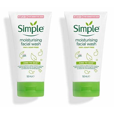 Simple Kind to Skin Moisturising Facial Wash (150ml) – Pack of 2