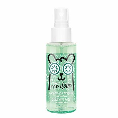 FLOSLEK Soothing Face Mist Cucumber Aloe | 95ml | Hydro Boost Express Hydrating Spray | Contains Aloe Juice | Moisture Bomb for Dry & Sensitive Skin | Cruelty-Free & Vegan