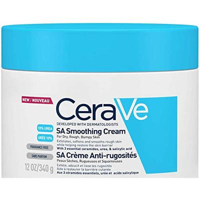 CeraVe SA Smoothing Cream | 340g/12oz | Moisturiser for Smoother Skin in Just 3 Days*