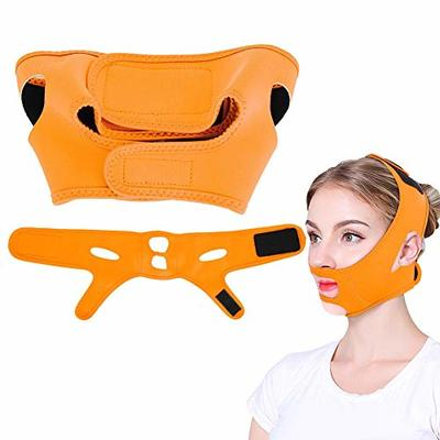 Facial mask that slims, tightens the skin of the face of the lift, remove the double chin bandage, facial beauty care of the facial care of the loss of beauty (orange).